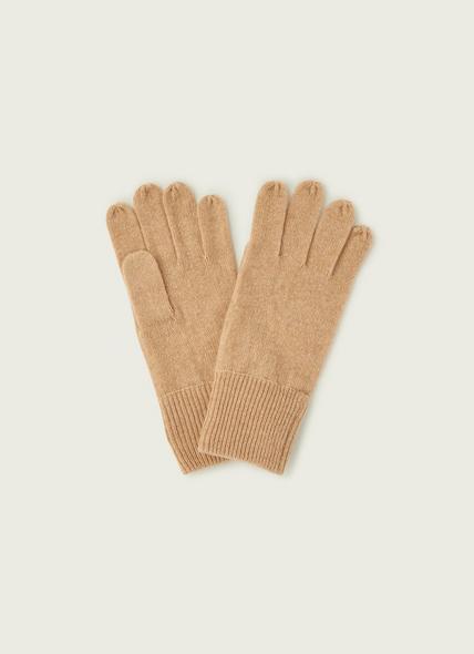 Kiki Camel Cashmere Gloves