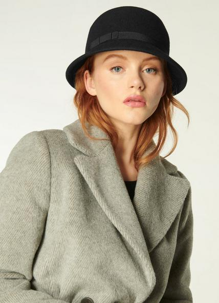 Kassidy Black Fabric Hat