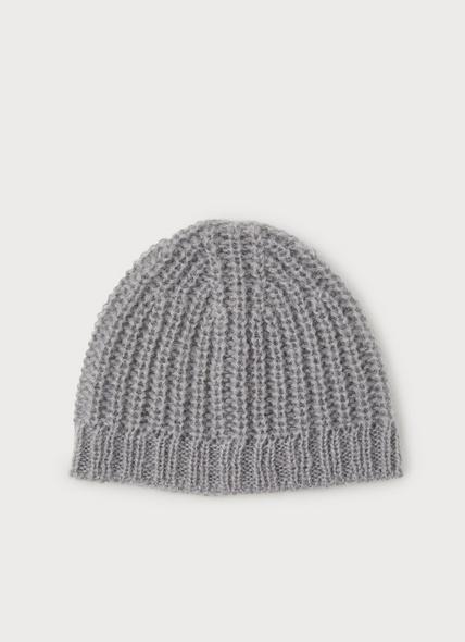 Kora Light Grey Mohair Hat