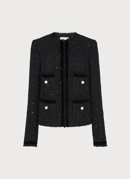 Sparkle Black Lurex Tweed Jacket