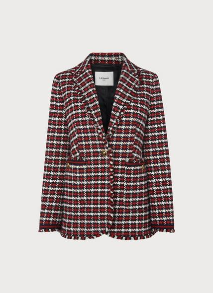 Therese Red Check Tweed Jacket