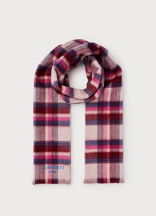 Jordan Red Check Lambswool Scarf