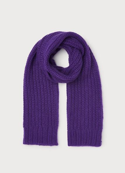 Kate Purple Mohair-Blend Scarf
