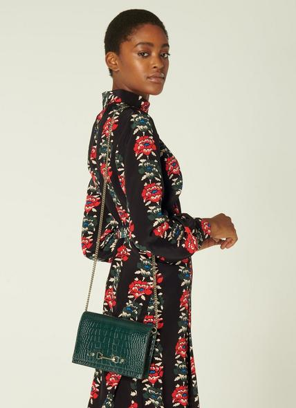 Melissa Green Croc-Effect Leather Handbag