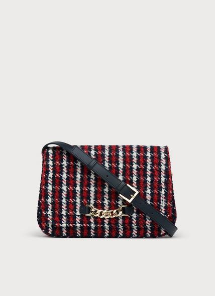 Michelle Red Tweed Crossbody Bag