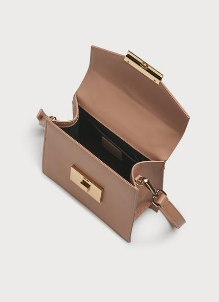 Milly Nude Leather Mini Handheld Bag