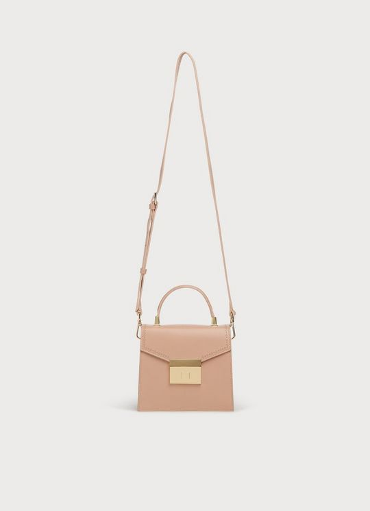 The Duchess of Cambridge carried LK Bennett Milly Nude Mini Handheld Bag in Cornwall