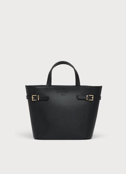 Mini Liberty Black Saffiano Leather Tote Bag