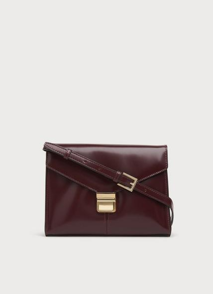 Miranda Bordeaux Leather Crossbody Bag