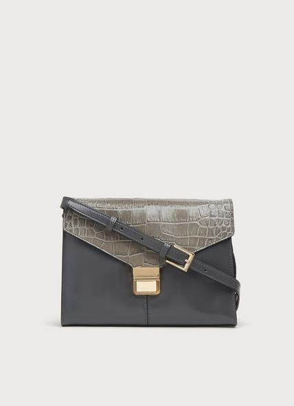 Miranda Smoke Grey Leather Crossbody Bag