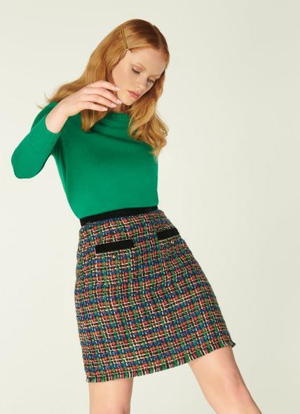 Lucy Multicoloured Tweed Skirt