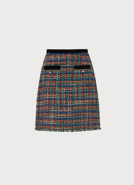 Lucy Multicoloured Tweed Skirt
