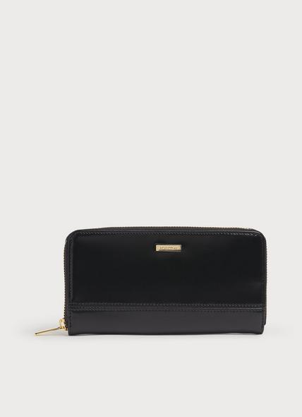 Casey Black Leather Long Purse