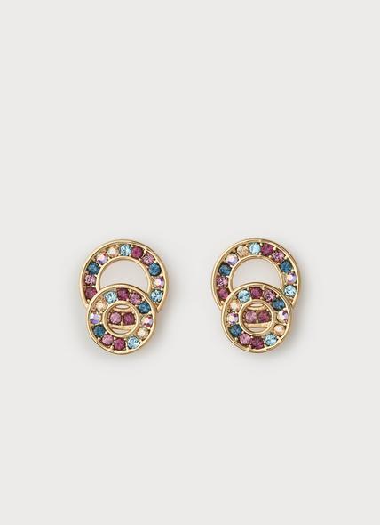 Atlas Gold & Multi-Coloured Swarovski Crystal Earrings