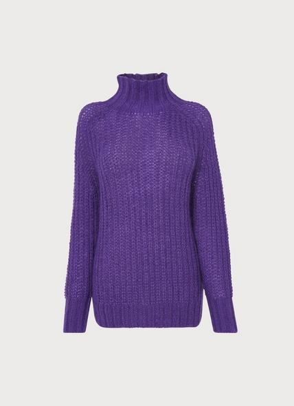 Iona Purple Mohair-Blend Jumper