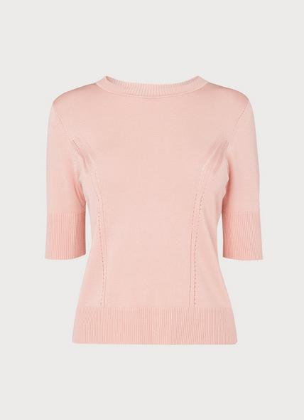 Val Pink Knitted Top