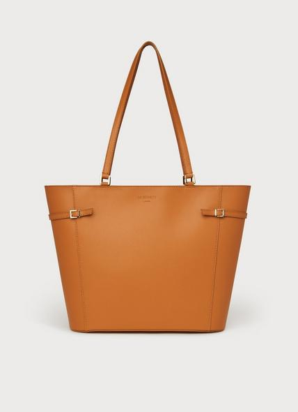 Liberty Tan Saffiano Leather Tote Bag