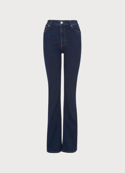 Cora Indigo Denim Flared Jeans