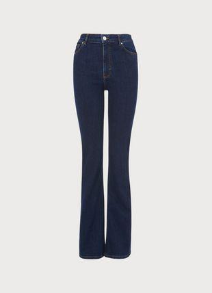 Cora Indigo Denim Flared Jeans