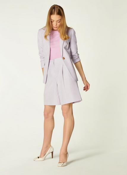 Sweetpea Lilac Linen-Blend Shorts