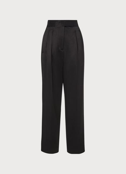 Tuxedo Black Satin Trousers