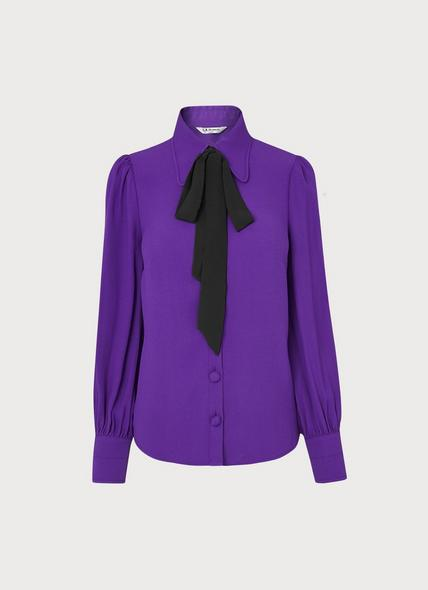 Sonya Purple Pussy Bow Blouse