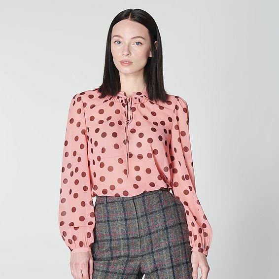 Tate Pink Spot Print Blouse