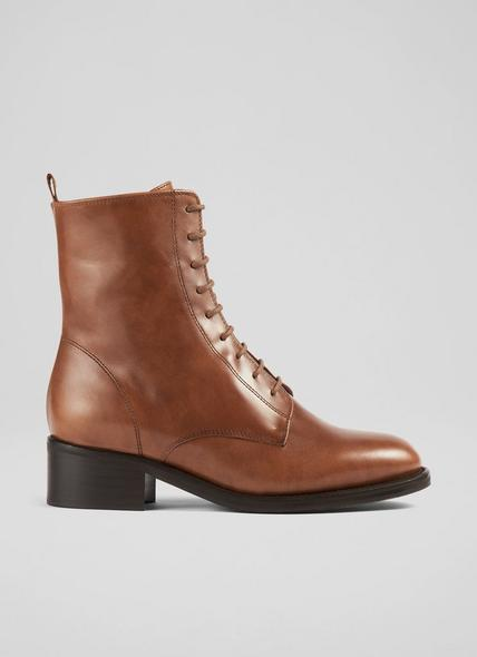 Alex Tan Leather Hobnail Boots