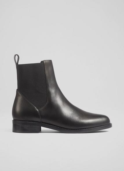 Clara Black Leather Chelsea Boots