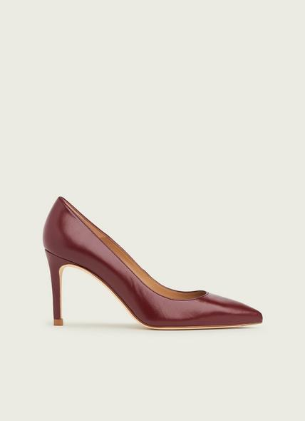 Floret Red Leather Pointed Toe Courts
