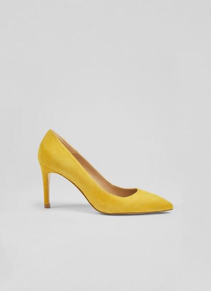 Floret Yellow Suede Closed Courts