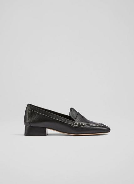 Kate Black Soft Calf Leather Closed Courts