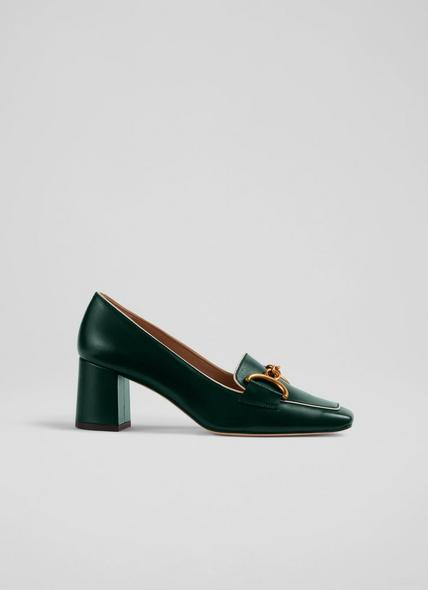Samantha Green Crinkle Patent Snaffle-Detail Courts