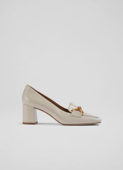 Samantha White Crinkle Patent Snaffle-Detail Courts