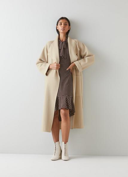 Florentin Beige Double-Faced Wool Coat