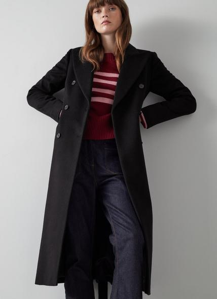 Louise Black Cashmere Coat