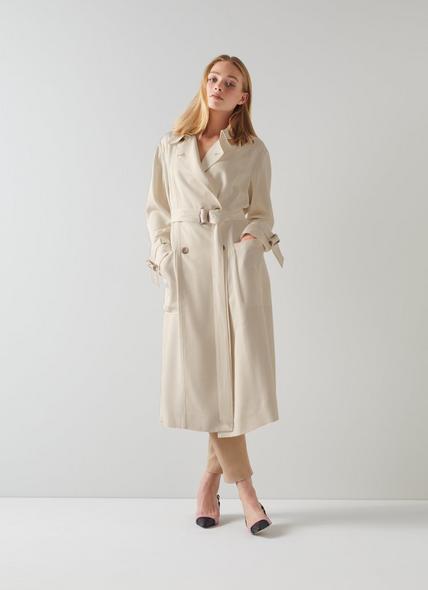 Maggie Cream Trench Coat