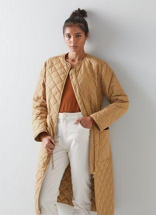 Nicolette Camel Quilted Coat