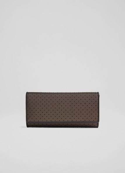 Juliet Black Spot Mesh Clutch Bag