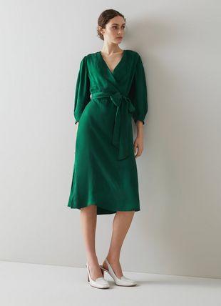 Iris Green Fluid Midi Dress