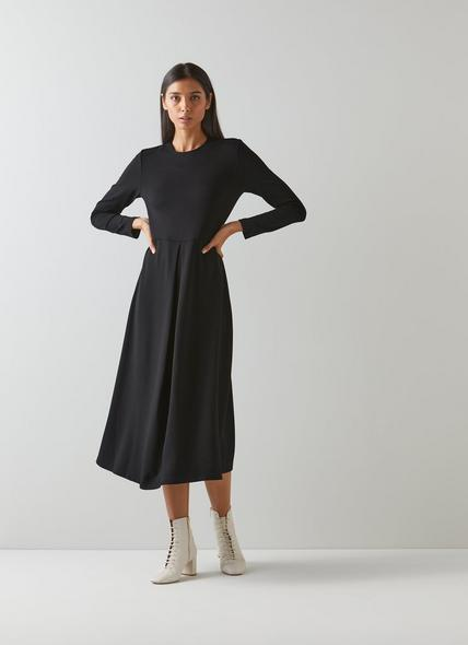 Maria Black Jersey Fit and Flare Dress