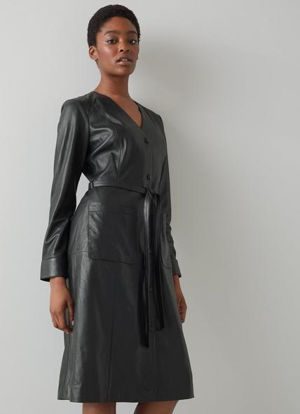 Monmouth Black Leather Dress