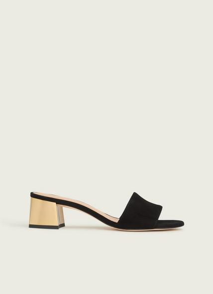 Maeva Black Suede Sandals