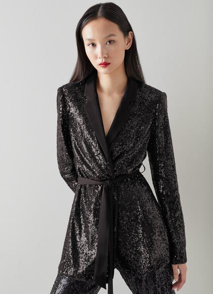 Shimmer Black Sequin Jacket