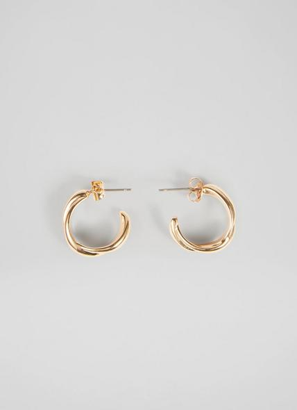 Cassie Gold Double Cable Hoop Earrings