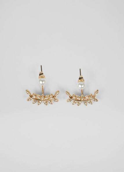 Louise Pearl and Crystal Gold-Plated Ear Cuffs