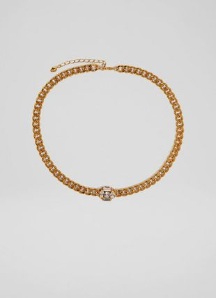 Emery Crystal and Gold-Plated Chain Choker