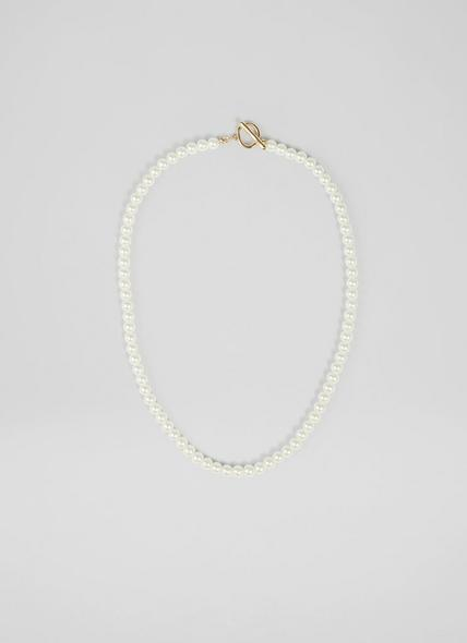 Grace Imitation Pearl Gold-Effect Necklace