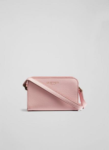 Mini Marie Pink Grainy Leather Shoulder Bag