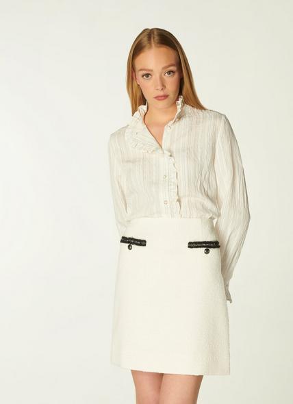 Charlee Cream Tweed Skirt